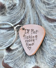 This personalized guitar pick is great for that die hard fishing buddy. Give your husband or father this cute little fishing keepsake that will be great for those boat keys. Love fishing! ∞∞∞∞∞∞∞∞∞∞∞∞∞∞∞∞∞∞∞∞∞∞∞∞∞∞∞∞∞∞∞∞∞∞∞∞∞∞∞∞∞∞∞∞∞∞∞ NOTES TO SHOP Any date/name/initials to add on the pick