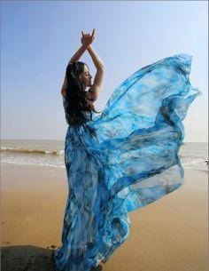 Blue+Summer+Floral+Long+Beach+Maxi+Dress+Lightweight+by+LYDRESS,+$58.00