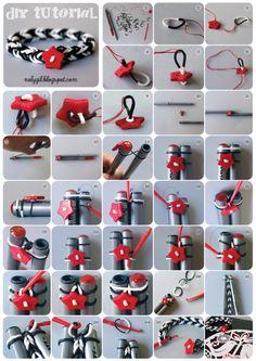 ♥ Noly Gil: ♥ DIY Pulsera hecha con gomas de látex y cierre de botón