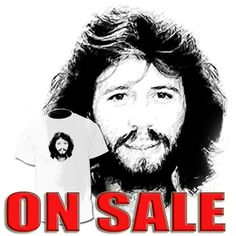Barry Gibb Drawing Art T shirt Barry Gibb Robin Bee by Drawinx