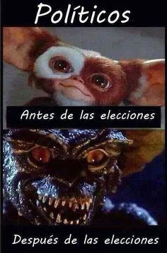 Políticos en elecciones