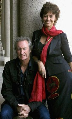 Actor Bryan Brown (L) poses with his wife, director Rachel Ward, during the official launch for the Sydney Film Festival at the Dendy Opera Quays on May 14, 2009 in Sydney, Australia.