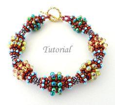 PDF for beadwoven bracelet beading tutorial  von PeyoteBeadArt, $6.50