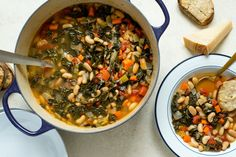 A wholesome stew that depends on a glorious, meat-free Parmesan-garlic broth. (You're gonna want to double it.) Healthy One Pot Meals, Vegetarian Dinners, Healthy Cooking, Vegetarian Recipes, Healthy Recipes, Oven Cooking, Healthy Eats, Healthy Soups, Fast Recipes