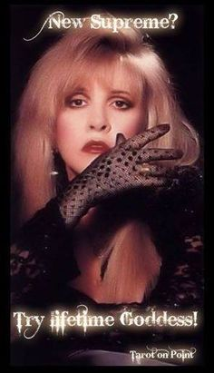 New Supreme?  Try Lifetime Goddess!  Stevie Nicks #AHS #Coven
