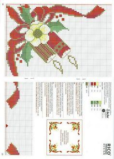 Xmas Cross Stitch, Cross Stitch Borders, Cross Stitch Designs, Cross Stitching, Cross Stitch Embroidery, Embroidery Patterns, Cross Stitch Patterns, Hand Embroidery, Christmas Border
