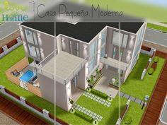 Casa Pequeña Moderna - The SimsFreeplay Casas The Sims Freeplay, Sims Freeplay Houses, Sims 4 Houses, Sims Free Play, Sims 3, Sims 4 House Plans, The Sims 4 Packs, Sims House Design, Layout Design