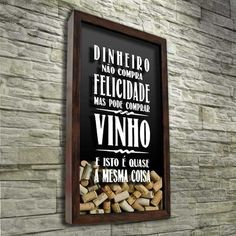 Such a cute idea! Alcohol Cabinet, In Vino Veritas, Frame It, Creative Thinking, Inspired Homes, Oeuvre D'art, Decoration, Wine Rack, Wines