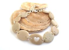 Natural Rock Bracelet Beach Pebble Jewelry From StoneAlone