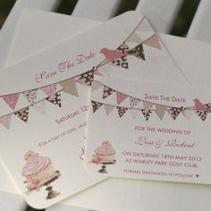 Personalised Save The Date Bunting Cards by Beautiful Day