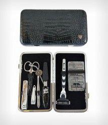 Quality Men\'s manicure set , nail kit, 8pcs, zipper wallet case ...
