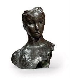 EMILE-ANTOINE BOURDELLE (1861-1929) ADOLESCENTE, MASQUE AVEC BUSTE