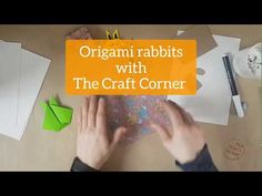 Learn how to make a simple origami rabbit with The Craft Corner. As seen on Ireland AM Simple Origami, Craft Corner, Kids House, Ireland, Rabbit, Creativity, Make It Yourself, Learning, Youtube
