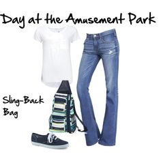 Thirty-One Gifts - The Sling-Back Bag is perfect for a day at the amusement park or the ballpark!