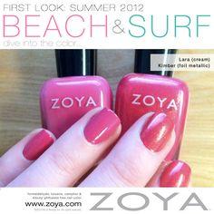 First Look: Zoya Beach & Surf Collections - Lara & Kimber