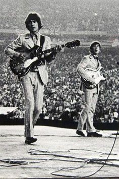 George and John in concert