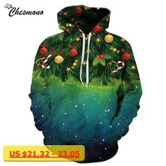 chesmono 2017 Newest 3D Print Christmas Halloween Skull Theme Pullover Hoodies for Women/men Causal Loose Plus Size Sweatshirts