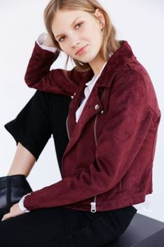OBEY Suede Moto Jacket | Urban Outfitters, Jackets and Bandana Hair