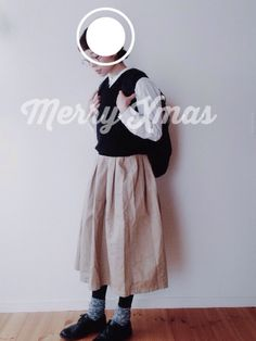 s h i.スカート「BEAVER GRANDMA MAMA DAUGHTER(グランママドーター) プリーツスカート (243)」를(을) 사용한 코디네이트