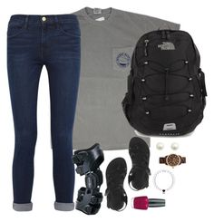 """""""Exactly what I wore today.✌️"""" by kaley-ii ❤ liked on Polyvore featuring Frame Denim, Chaco, The North Face, Michael Kors, OPI and kaleyschoosets"""