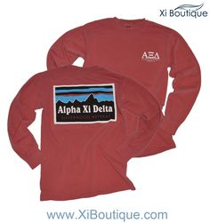 We're loving this Patagonia style Alpha Xi Delta Custom Chapter Order!