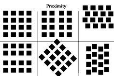 This image shows law of proximity. Because objects that appear to be close to one another tend to be perceived as a group. In this image it tends to look like the same figure but when you look closely you can tell the separation and see the blank spaces.    http://jeremybolton.com/2010/08/gestalt-principle-the-law-of-proximity/