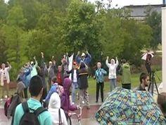 Plantation Village independent living community flash mob at UNCW.