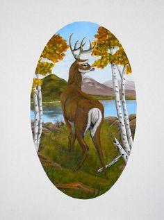 Title  Teddy's Deer   Artist  Sheri Keith   Medium  Painting - Acrylic On Canvas Painting
