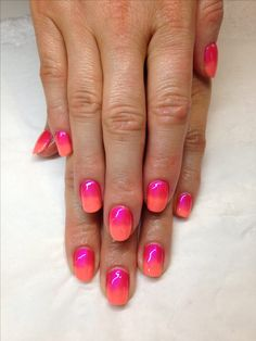 Maybe different shades, but I like. CND shellac and additives ombré by Julie at www.facebook.com/sparklesgrimsby