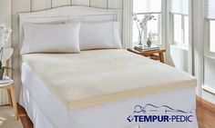 Tempur-Pedic's proprietary foam-like pad adds another layer of coziness and comfort to an old or lumpy mattress