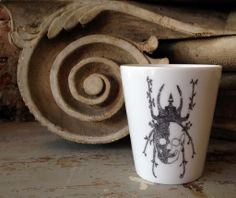Scarab cup by French artist Little Madi