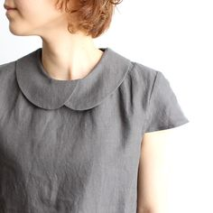 I love this overlapping peter pan collar, There are a couple of other necklines on this page, but this is the nicest.