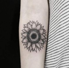 Sunflower Tattoo Design by Fernanda Prado