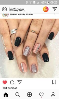 Gel manicure colors gelish New Ideas Polygel Nails, Gold Nails, Cute Nails, New Nail Art Design, Best Nail Art Designs, Manicure Colors, Gel Manicure, Stylish Nails, Trendy Nails