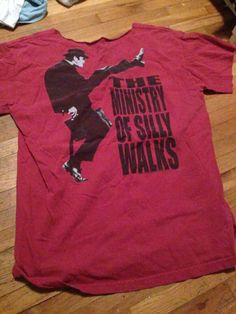 9e8e44be Monty Python's Flying Circus Red Shirt The Ministry Of Silly Walks Size  Medium