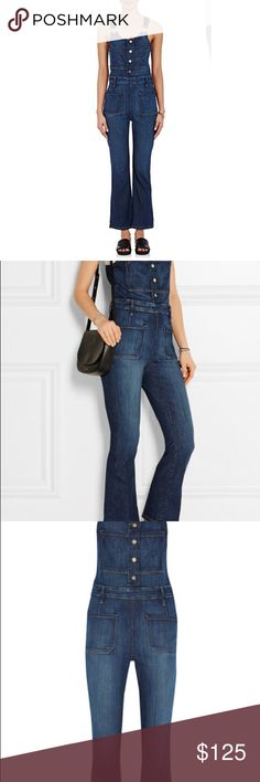 Frame Denim Flare Overalls Perfect for spring! Sold out flare crop flare overalls. Great condition! Frame Denim Pants Jumpsuits & Rompers