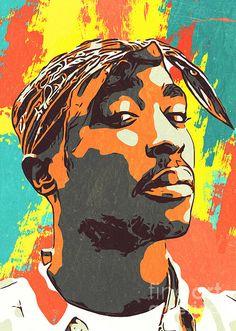 Tupac Poster featuring the digital art Tupac Shakur Artwork by Taoteching Art Arte Do Hip Hop, Hip Hop Art, Tupac Shakur, Tupac Poster, Tupac Wallpaper, Dark Wallpaper, Tupac Art, Tupac Pictures, Mode Poster