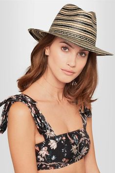 317c923efed23 rag   bone - Striped Straw Panama Hat - Beige