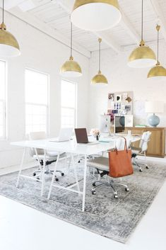 Small space office inspiration. | http://domino.com