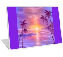 Laptop Skin,  unique,cool,fancy,beautiful,trendy,artistic,awesome,unusual,fashionable,accessories,gifts,presents,ideas,design,items,products,for,sale,purple,violet,tropical,island,sunset,palmtrees