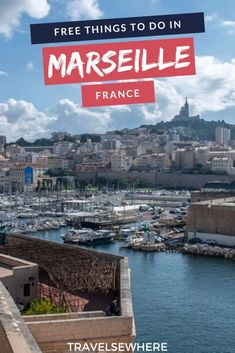 Even though it's a major city in France, there are actually many free things to do in Marseille. Here's how to spend one day in Marseille when on a budget. Europe Destinations, Europe Travel Guide, France Travel, Amazing Destinations, Travel Guides, Visit France, Budget, Free Things To Do, Best Places To Travel
