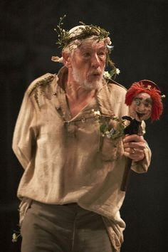 Ian McKellen as King Lear.  Directed by Trevor Nunn, Ian McKellen in the role of King Lear. Courtyard Theatre, Stratford-upon-Avon, followed by World Tour 24 March - 12 January 2008.