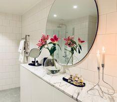 DIY: förvaringsmöbel i badrummet av ikea-stomar - 34 kvadrat - Metro Mode Ikea, Mirror, Bathroom, Diy, Furniture, Home Decor, Washroom, Decoration Home, Ikea Co