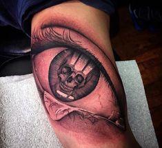 Eye Bicep Tattoo For Men
