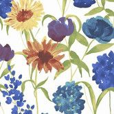 Found it at AllModern - Summer Bloom Floral Botanical Wallpaper