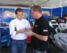 Josep with Ino Moiron  Moto 2 MRGrifull Team Member.