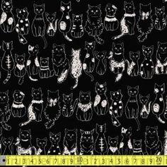 Doodle+Cats+Black