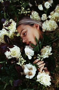 For the past two years photographer Parker Fitzgerald and floral designer Riley Messina have been creating beautiful flower-filled images Editorial Photography, Fine Art Photography, Portrait Photography, Fashion Photography, Parker Fitzgerald, Miss Moss, Art Model, Flower Power, The Dreamers