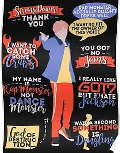 BTS RM Quotes Poster