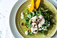 Feldsalat mit Champignons und Joghurtdressing – #elbmadame http://elbmadame.de